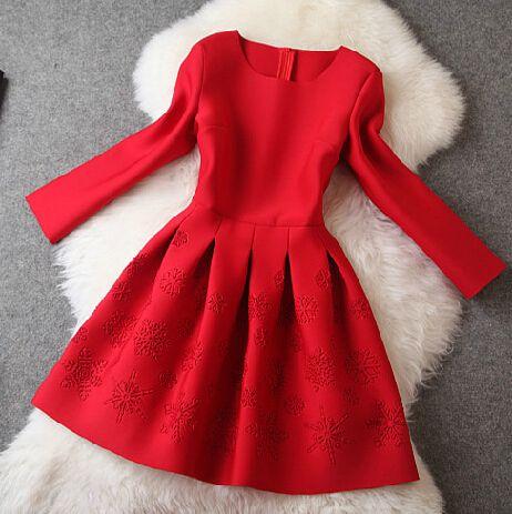 Slim printed long-sleeved dress #110203AD
