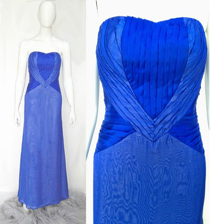 The beautifully draped silk chiffon gown features a Yves Klein blue and silver blue colors. The bodice features internal boning for custom fit.  Price starts from IDR 3,500,000  For pricing, sizing, and ordering details please email us at nmayinda@gmail.com, Whatsapp us at 081299331039, or BB us at 2B07B968.