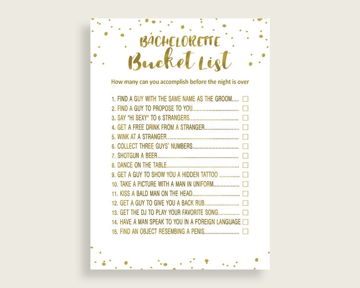Bachelorette Bucket List Bridal Shower Bachelorette Bucket List Gold Bridal Shower Bachelorette Bucket List Bridal Shower Gold G2ZNX #bridalshower #bride-to-be #bridetobe