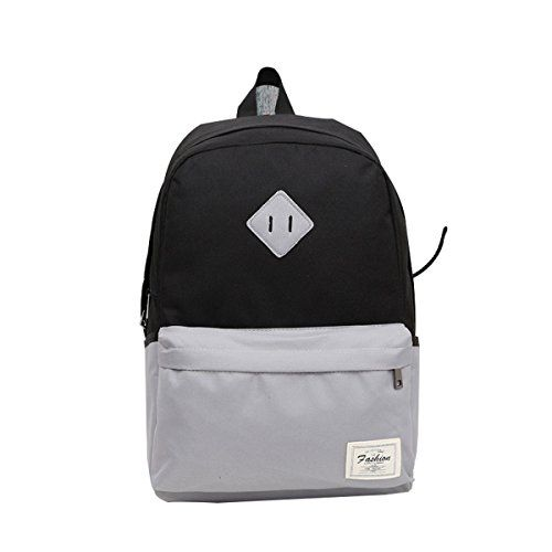2014 New Unisex Canvas Backpack School Bag Vintage Colorful College Laptop Bags Rucksack for Teens Girls Boys Students Outdoor Travel Black - Click image twice for more info - See a larger selection of boys teens backpacks - kids, boys, little boys, school supplies, kids fashion , teenager, bags.