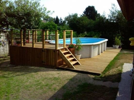 26 best piscine images on Pinterest Piscine hors sol, Play areas - comment poser des dalles autour d une piscine