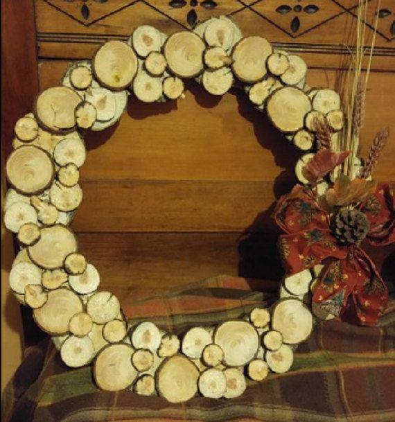 Tranche de bois Couronne par CraftTalking sur Etsy