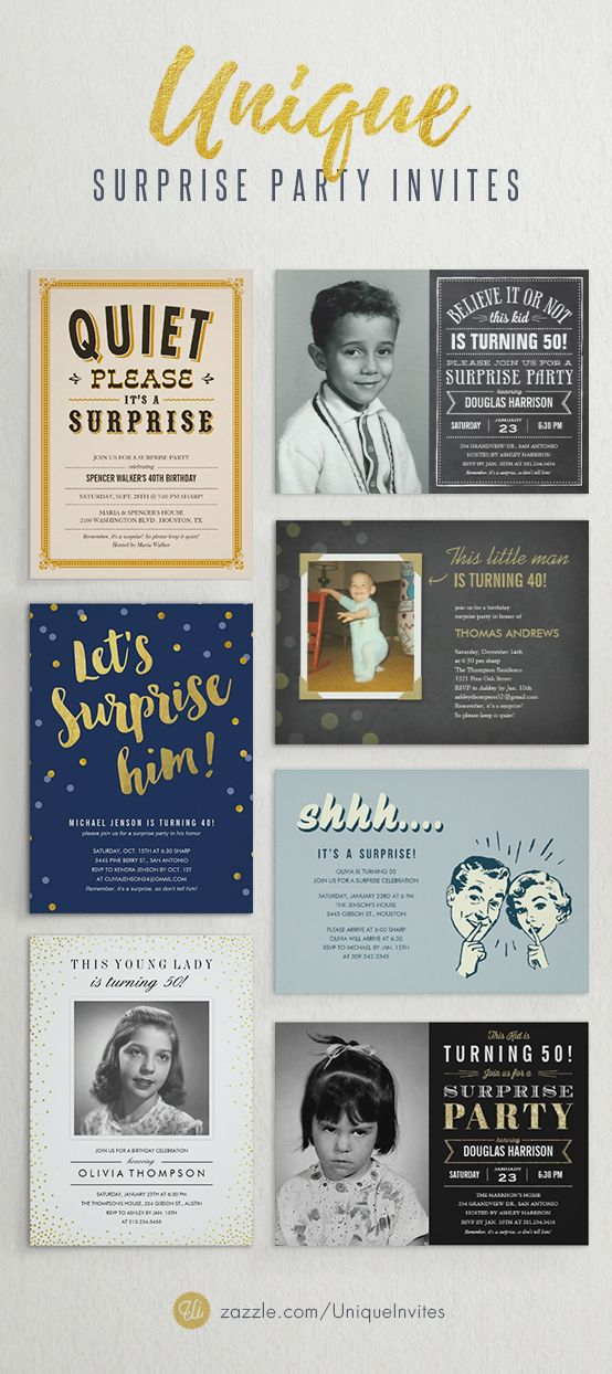 15 best Surprise Party Invitations images on Pinterest | Birthday ...