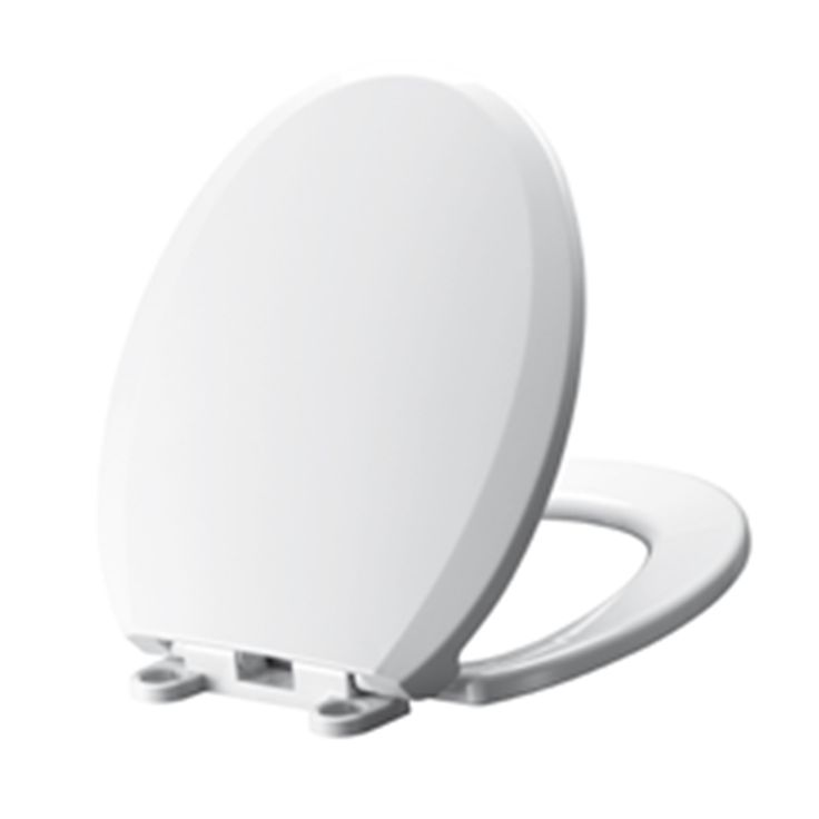 American Standard Mainstream White Plastic Round Slow-Close Toilet Seat