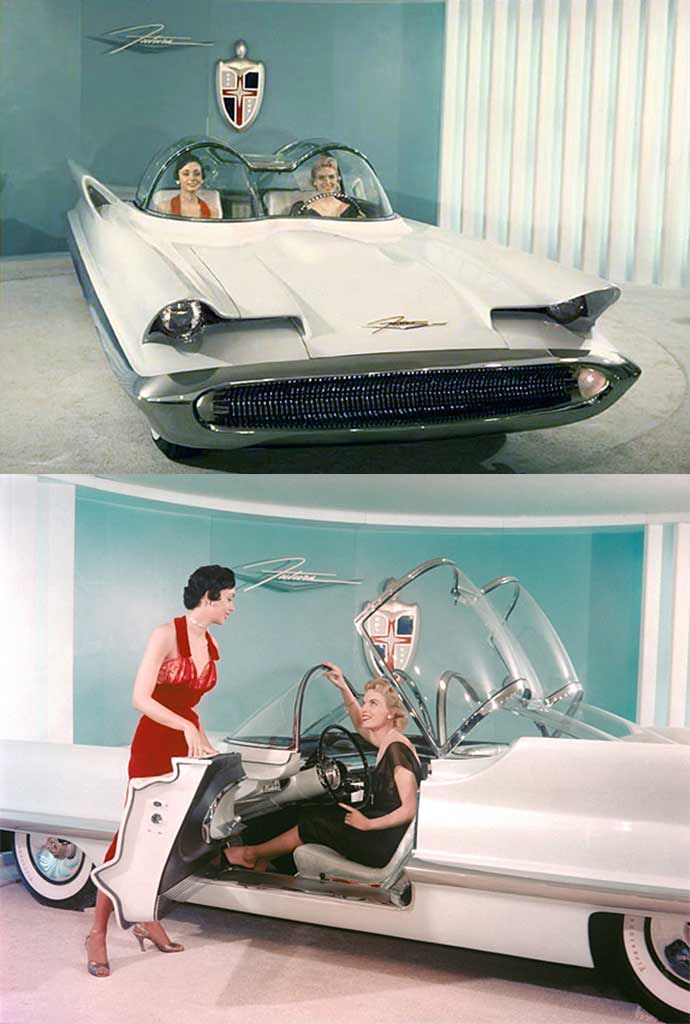 The 1955 Lincoln Futura was a concept car designed by the Lincoln division of Ford Motor Company. Hand-built by Ghia in Turin, Italy and designed by Bill Schmidt and John Najjar for $250,000. After buying the car from Ford for $1, legendary customizer George Barris made modifications and transformed the car into the Batmobile, for the 1966 TV series Batman.