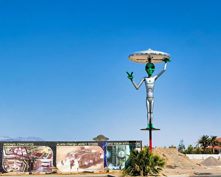 Driving to Las Vegas from LA? All the best weird, wonderful, and mostly weird places to stop on the way.