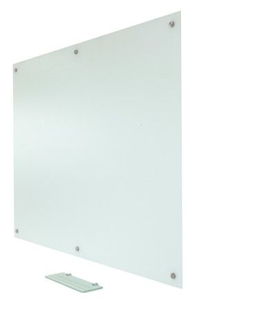 "$325  Pegasus Projection Magnetic Anti-Glare Glass Marker Board Low Gloss White surface 48"" x 60"" 