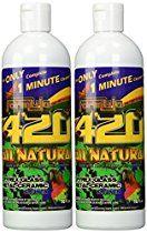 ALL NATURAL Formula 420 pirex-glass metal-ceramic cleaner, 2 Bottles, 16 Ounces Each