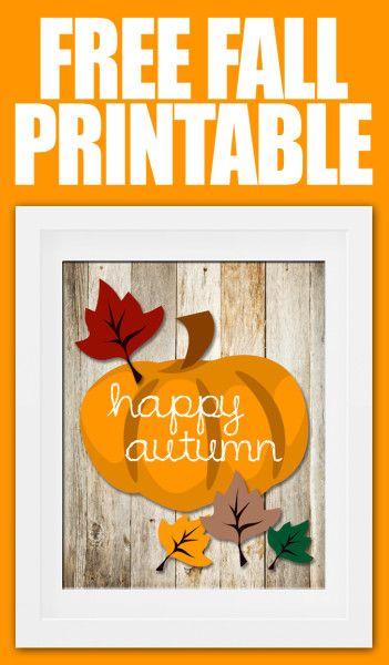 Free fall pumpkin printable! Happy Autumn :)