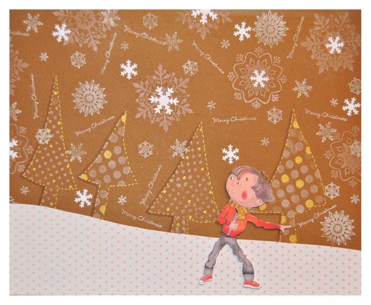 """Illustration pour mon conte """"Michel et la magie de Noel"""", 2013"""