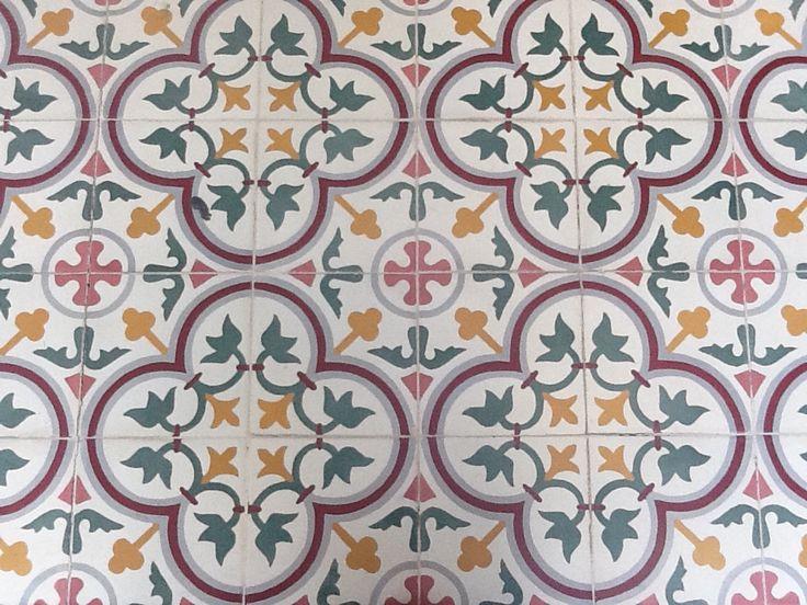 Tegels in paleis Solo, Java