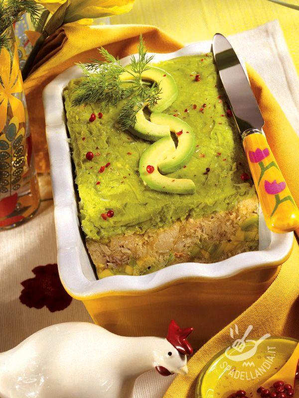 Terrine of avocado and crabmeat - La Terrina di avocado e polpa di granchio è un piatto veramente originale, perfetto se volete stupire i vostri commensali con qualcosa di nuovo.