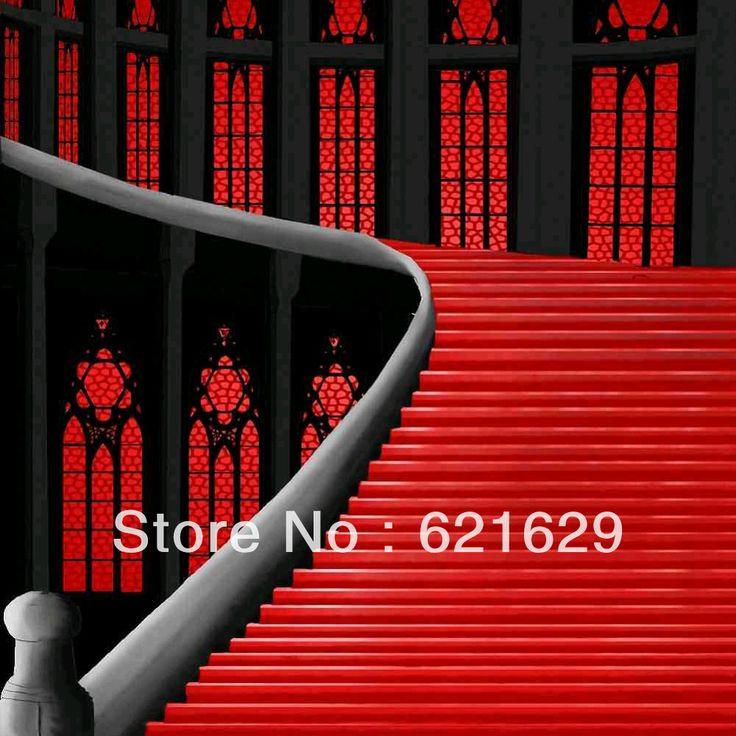 Красная Лестница 10'x10 'ср Компьютерная роспись Scenic Фотография Фон Фотостудия Фон ZJZ-727