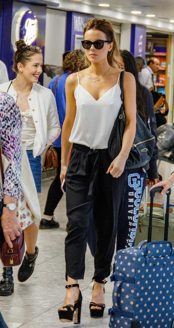 Kate Beckinsale Arrives at Heathrow