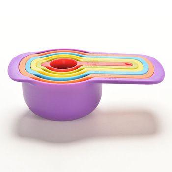Colorful 6 PCS Utensílio de Cozinha Colourworks Xícara de Bicarbonato de Copos De Medição Colheres de Medição Colher Conjunto Kit de Ferramentas De Medição