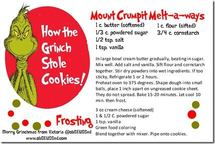 Grinch meltaway recipe ObSEUSSed