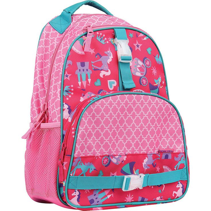 "Fun and functional, kids will be ""all over"" the Stephen Joseph All Over Print Backpack. Perfectly sized for school age kids, these bags are large enough to carry your children's school books and required day-to-day school supplies and still leave room for a change of clothes for playtime after class. All Over Print Backpacks are durable enough that they also make for a great summer camp or sports bag. This backpack has many of the same features found on adult size bags- three st..."