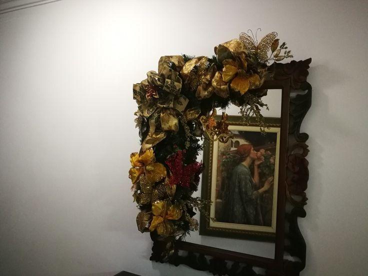 Guirnalda Navidad espejo 2.017
