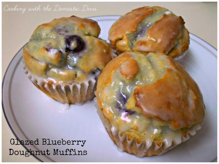 Blueberry Doughnut Muffins | Baking | Pinterest | Doughnut muffins ...