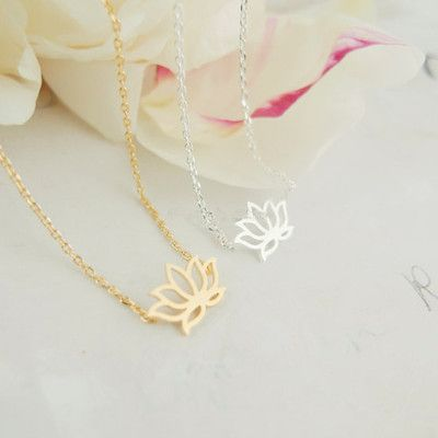 Dainty Lotus Flower Necklaces for yogis and yoginis