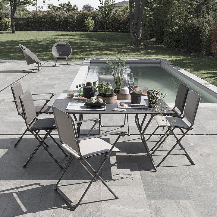 table de jardin ultra pratique pliante gris foncé | Dehors / Outdoor ...