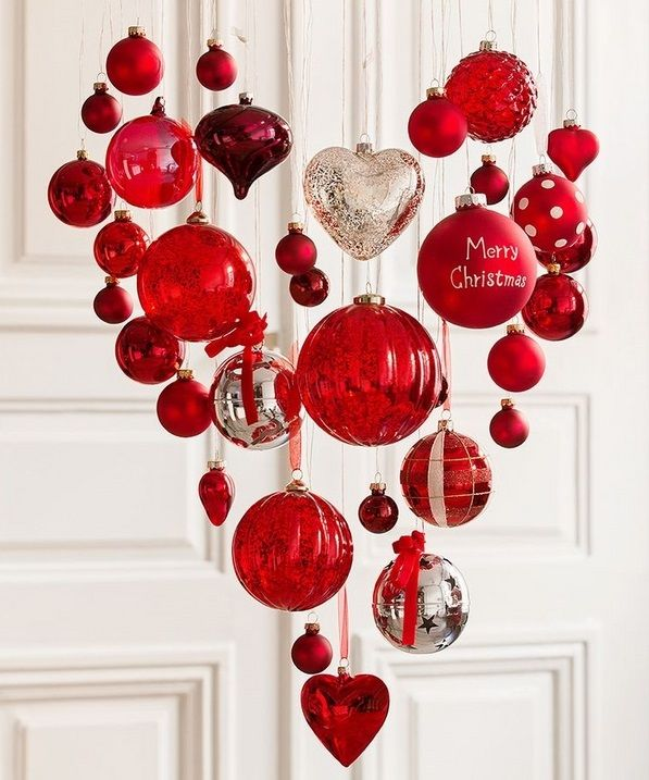 If you change out the Merry Christmas ball this ornament heart would be great for Valentine's Day.