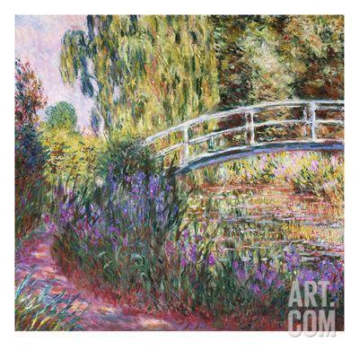 The Japanese Bridge, Pond with Water Lillies; Le Pont Japonais Bassin Aux Nympheas Giclee Print by Claude Monet at Art.com