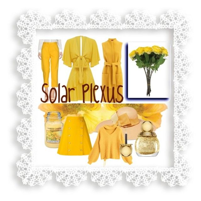 """Solar Plexus"" by monejka ❤ liked on Polyvore featuring PT01 Pantaloni Torino, WtR, Sensi Studio, Yankee Candle, macgraw, Christian Dior and chakra"