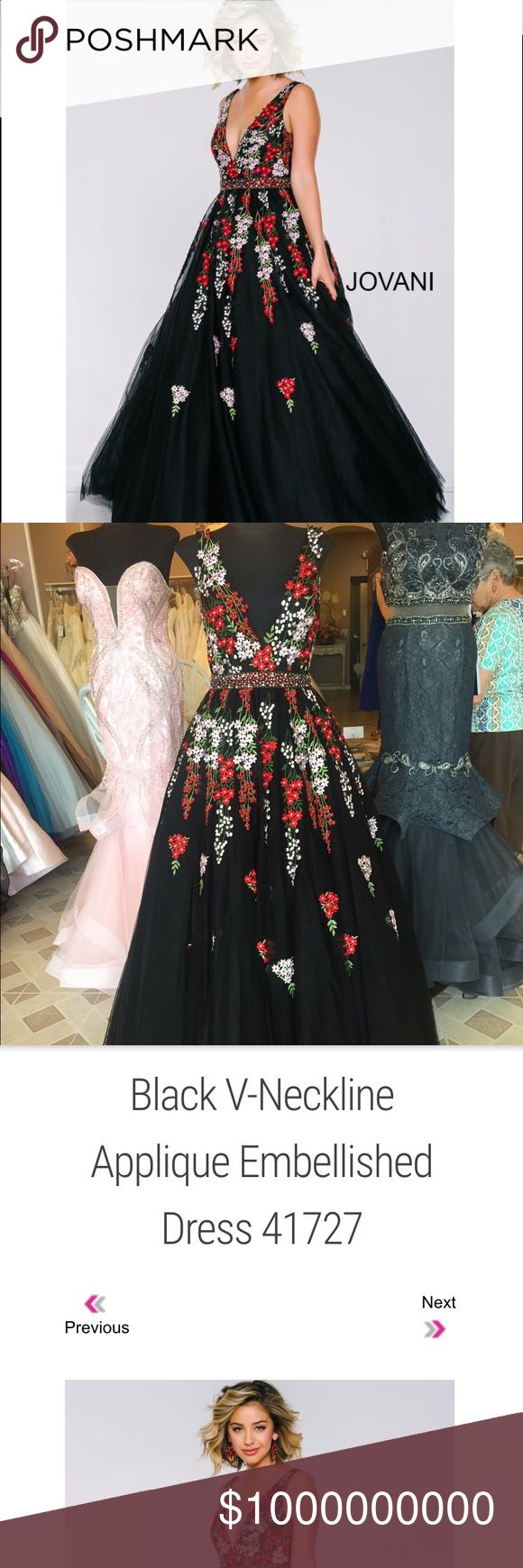 ISO Jovani Floral Embroidered Prom Dress ISO if anyone has this dress for sale it would be my dream to wear it for prom. I saw it in store but I didn't need it since I wasn't old enough to go to prom. But now that I am I would really like to find it! Jovani Dresses Prom