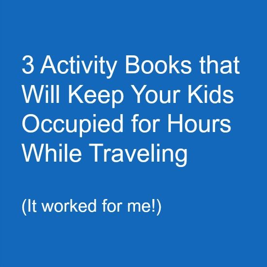 activity books for traveling