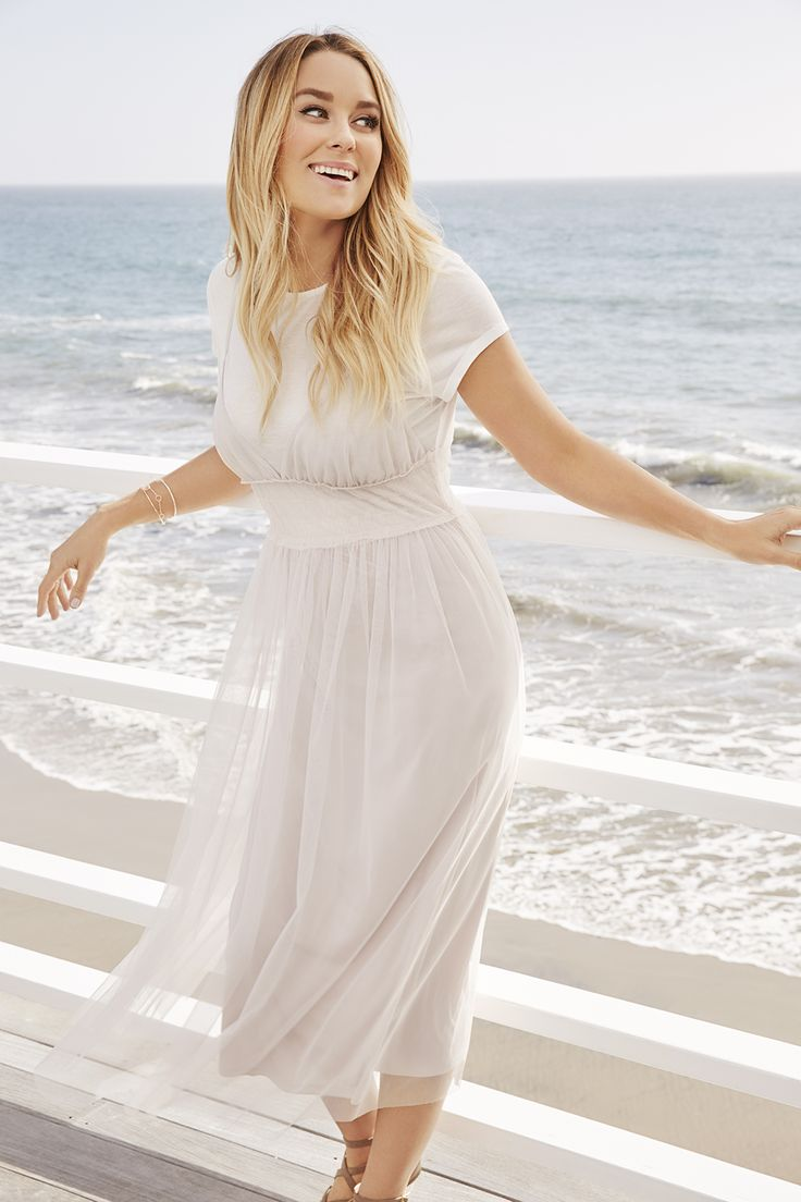 Lauren Conrad wearing an LC Lauren Conrad Tulle Midi Dress | Available at Kohl's and on Kohls.com