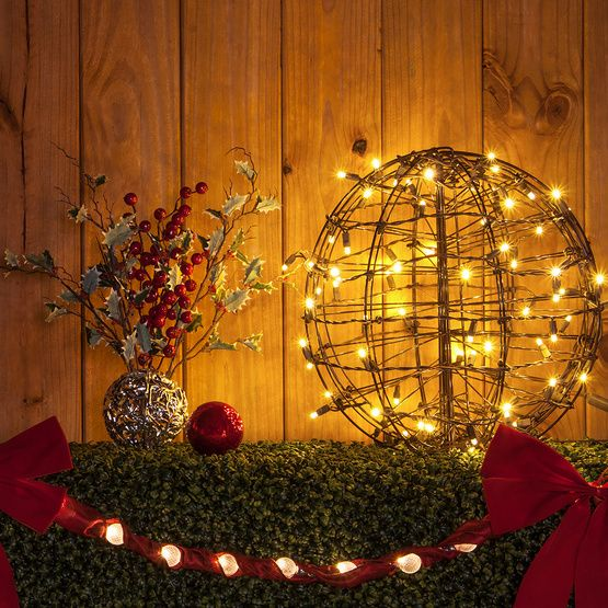 143 best outdoor christmas decorations images on pinterest for Outdoor hanging ornaments