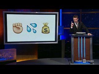 @Midnight: Doug Benson | Nikki Glaser | Ron Funches: Sweet Emoji -- Before the new set of Emoji become available, Nikki Glaser, Ron Funches and Doug Benson must translate a series of the original characters into sentences. -- http://www.tvweb.com/shows/midnight/season-2/doug-benson-nikki-glaser-ron-funches--sweet-emoji