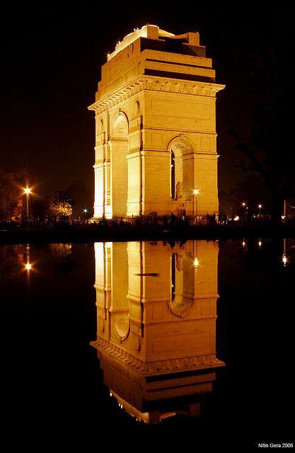 India Gate - New Delhi  New Delhi, India  http://www.travelandtransitions.com/destinations/destination-advice/asia/map-of-india-major-destinations/