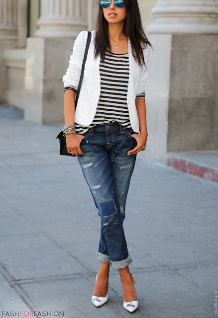 fashforfashion -♛ STYLE INSPIRATIONS♛ | Wardrobe | Pinterest | White denim, Clothes and Wardrobes