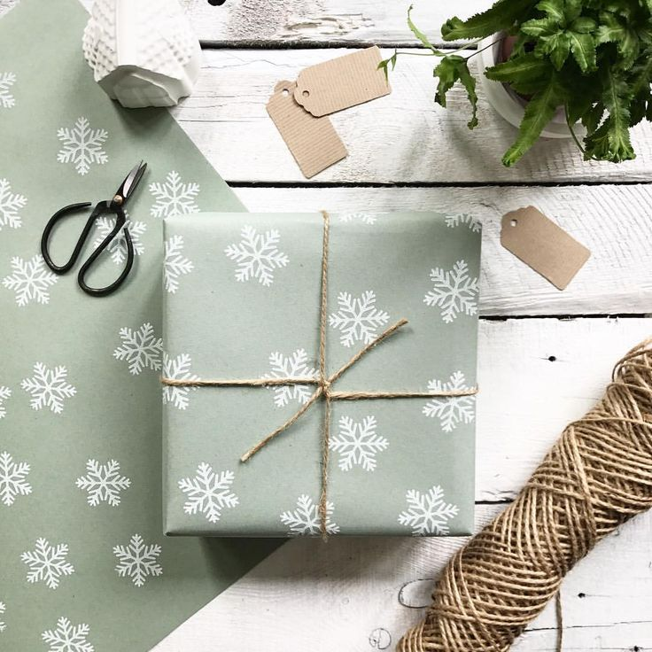 Hand printed snowflake wrapping paper by Ovo Bloom. Available from Notonthehighstreet.com
