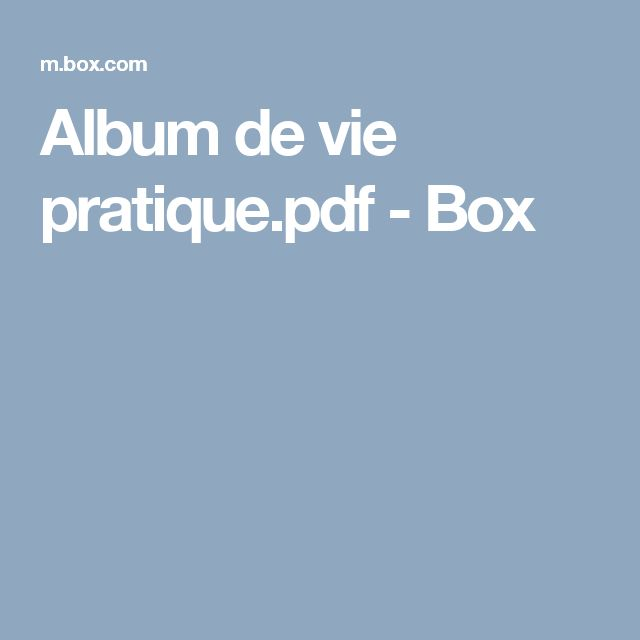 Album de vie pratique.pdf - Box