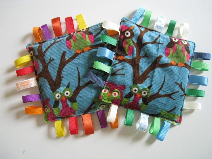 DIY pea bags for baby. I looooove owls <3
