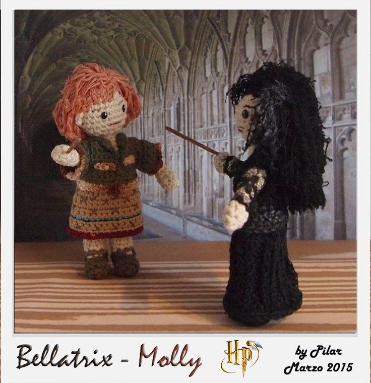 Amigurumi Harry Potter : #amigurumi Harry Potter, Bellatrix,Molly