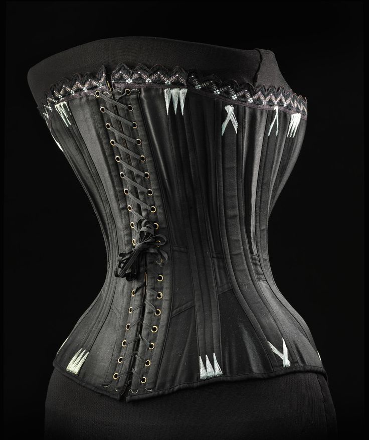 "Corset ca. 1893-97 From the exhibition ""A Century of Style: Costume and Colour 1800-1899″ at Glasgow Museums"