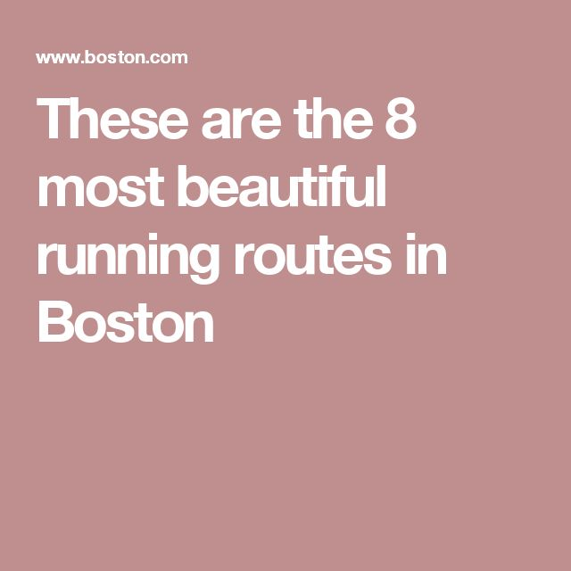 These are the 8 most beautiful running routes in Boston