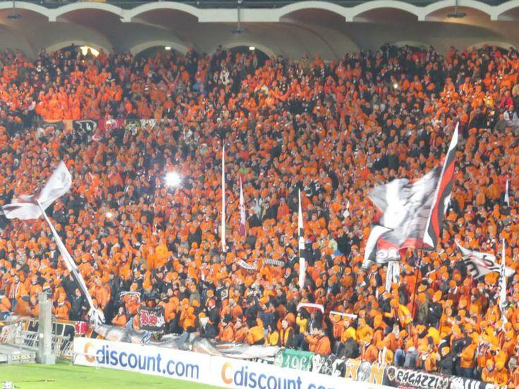 Eintracht Frankfurt Choreo Europa League 2013/14 Girondins Bordeaux - SGE Rekord: 12.000 Auswärtsfans in der EuropaLeague Gruppenphase