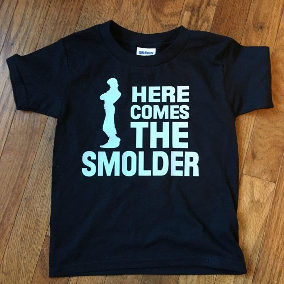 """Perfect shirt for your next trip to Walt Disney World or Disneyland! Brand new, custom made youth boys t shirt. This kids shirt says """"Here Comes the Smolder"""" with a silhouette of Flynn Rider. Shirt co"""