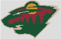 Counted Cross Stitch Pattern Minnesota Wild NHL Logo by dueamici