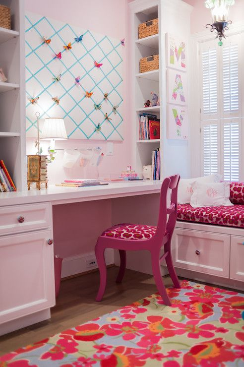 25 best ideas about pink desk chair on pinterest girls desk chair rolling chair and tufted - Amazing teenage girl desks ...