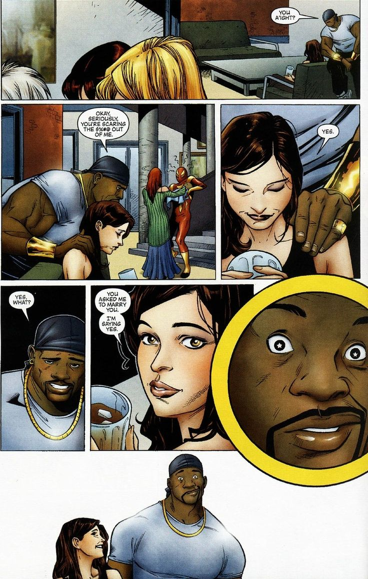Luke Cage & Jessica Jones get married...comic panel.