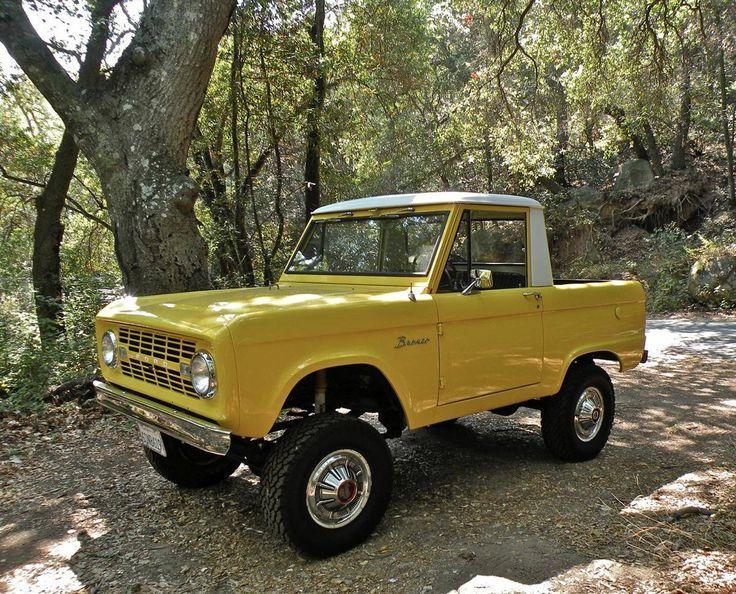1966 ford bronco half cab pickup 4x4 39 s pinterest the. Black Bedroom Furniture Sets. Home Design Ideas