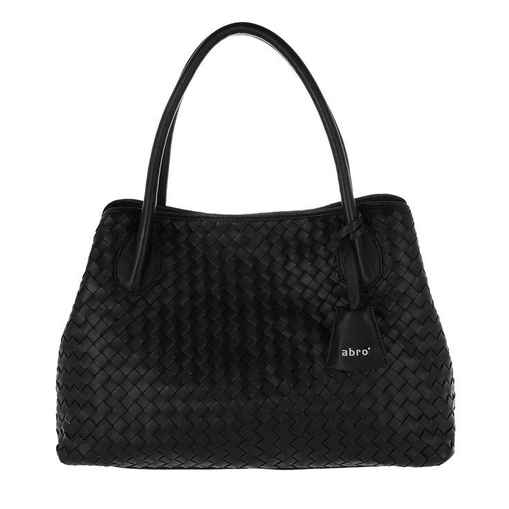 Handtasche, Abro, Piuma Braided Shopping Bag Black/Nickel