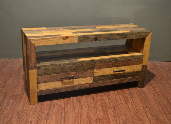 Rustic+Solid+Wood+55+Inches+TV+Stand+/+Media+Console+/+Console