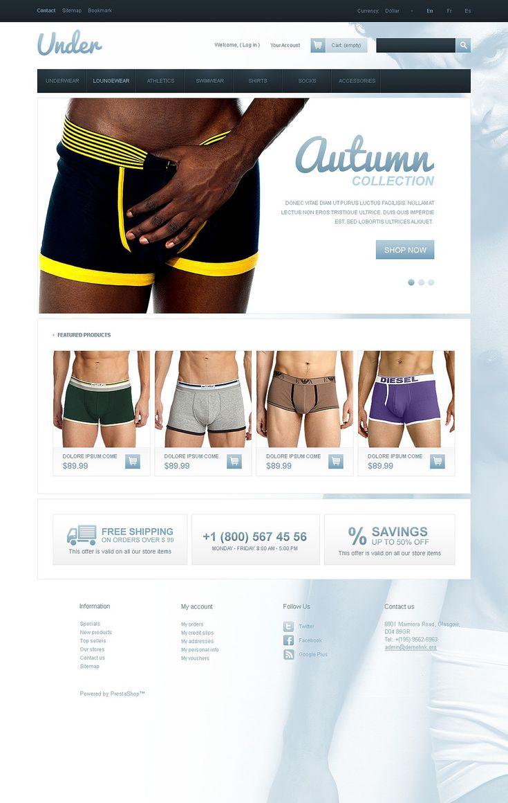 9+ Best Mens Underwear Store Ecommerce PrestaShop Themes - Underwear for Men PrestaShop Theme
